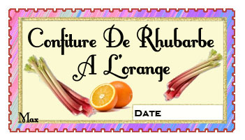 confiture de rhubarbe a l'orange