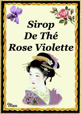 Etiquettes punch ect 2 - Sirop de violette ...