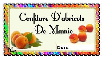 confiture abricot etiquette