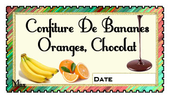 Confiture de bananes oranges chocolat copie