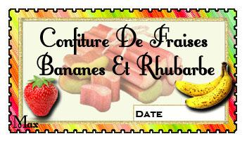 Confiture de fraises bananes et rhubarbe copie