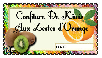 Confiture de kiwis aux zestes d orange copie