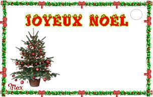 Cartes Menu, Etiquettes Noël 1
