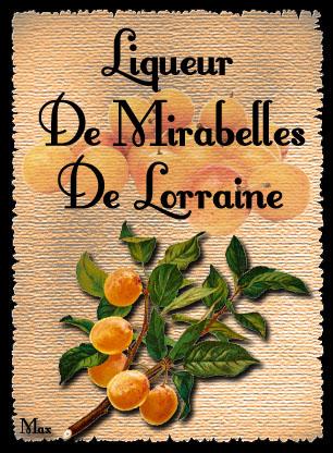Liqueur de mirabelles de lorraine