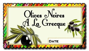 Olives noires a la grecque
