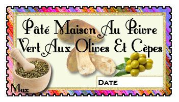Pate maison au poivre vert aux olives et cepes copie