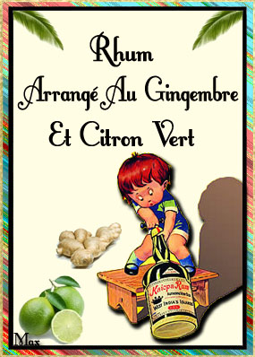 Rhum arrange au gingembre et citron vert copie