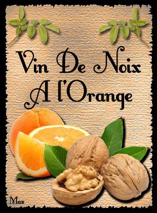 Vin de noix a l orange